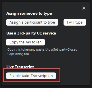 Auto transcription